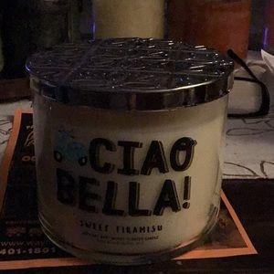 NWT B&BW Ciao Bella! Sweet Tiramisu 3 Wick Candle
